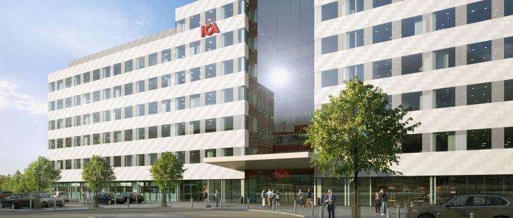 Så här kommer Icas nya huvudkontor att se ut. Ica flyttar från Solna Business Park till Arenastaden.