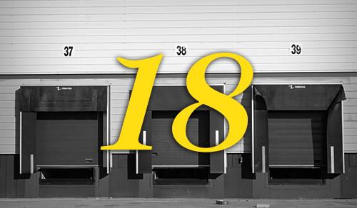 18 största lagerbyggnaderna