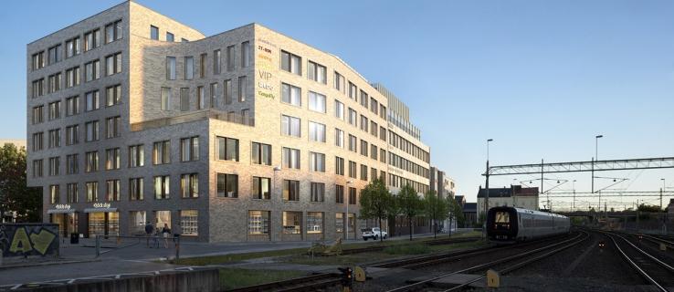 Fastigheten har ett utmärkt läge precis vid stationsområdet i Lund – där det finns en stor efterfrågan på moderna kontorslokaler. Illustration: Tengbom.