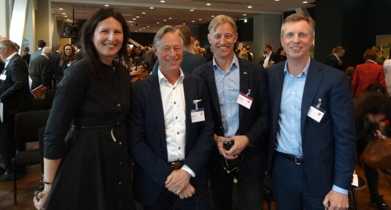 Biljana Pehrsson, Fredrik Wirdenius, Christian Hermelin och Henrik Saxborn.