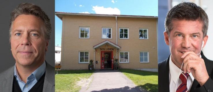 Magnus Edlund och Ilija Batljan har gjort upp en affär där bland annat fastigheten Solliden 1 i Torsby ingår.