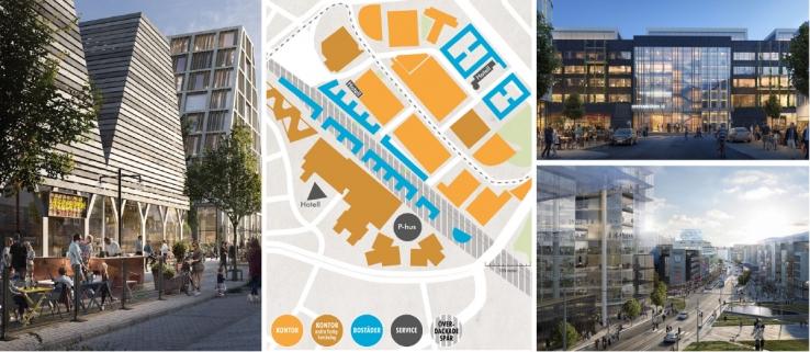 Solna Business Park ska förtätas med upp till 180.000 kvm kontor och 2.000 bostäder.