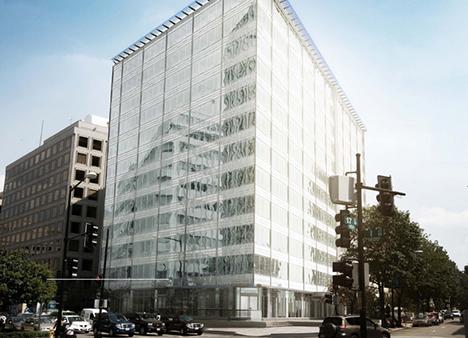 Så här kommer 815 Connecticut Avenue att se ut när byggnaden är färdigställd.