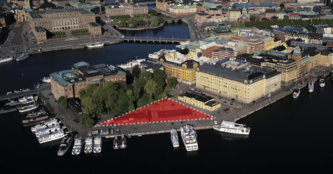 """Fastighetsvärlden visar den """"triangel"""" som är avsedd för den nya byggnaden."""