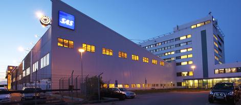 Den stora hangaren om 106.000 kvm på Arlanda rymmer även serviceverkstad och kontor