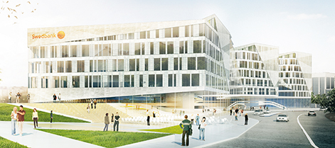 Swedbanks blivande huvudkontor i Sundbyberg ingår i transaktionen.
