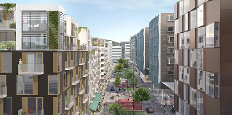 Så här planerar Catena att utveckla området som idag innehåller en anläggning för Bilia.