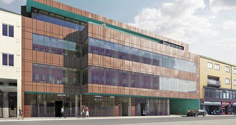 Huset stod klart 1964 när Sveriges första varuhuskedja Epa, öppnade här under cirka 10 år. Huset får nu två nya våningar.