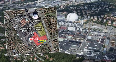 ikea västerås karta Ikano och Ikea: 136 000 kvm handel vid Globen | Fastighetsvärlden ikea västerås karta