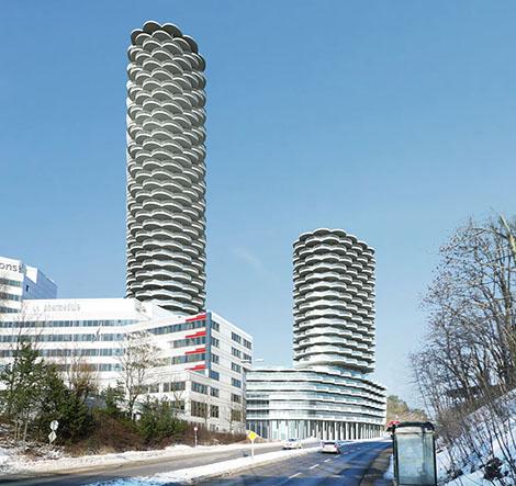 Det ursprungliga förslaget. Illustration: Hagman & Co Arkitekter.