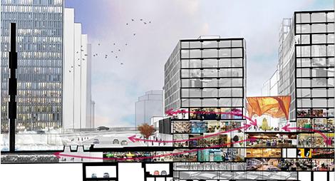 Vasakronan och arkitektbyrån Equator har tillsammans med Stockholms stad arbetat hårt med frågan hur Sergels torg på ett bättre sätt kan bidra till att öppna upp för flöden upp till Malmskillnadsgatan.