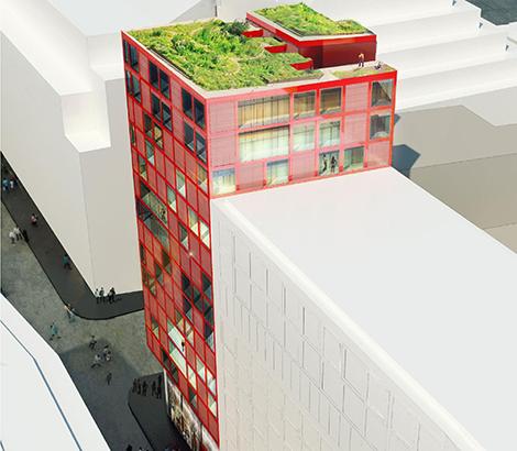 """Vasakronan och Stockholms stad vill skapa fler bostäder i centrala Stockholm. I hörnet Malmskillnadsgatan och Mäster Samuelsgatan ska det bli """"urbana bostäder""""."""