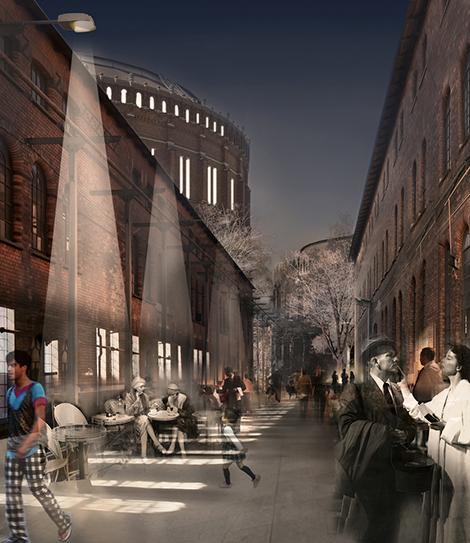 Tanken är att bevara delar av den miljö som finns i området idag, motsvarande som Atrium Ljungberg gjort i Sickla och som TK Development/SKF gör i projektet Kulan i Göteborg.