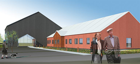 Erik Wijkmark på fastighetsutvecklarna JEFF har ritat det nya äldreboendet i Kiruna.