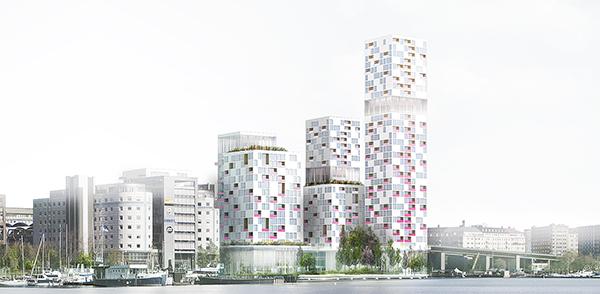 AMF Fastigheters projekt. Den stora kolossen vid Liljeholmsbron ska rivas och ersättas med ett flertal huskroppar, varav den högsta kan bli 30 våningar.