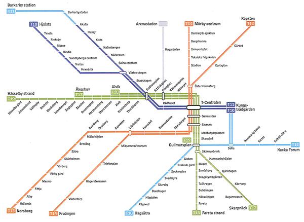 Så här kan Stockholms tunnelbana komma att se ut om ett decennium.