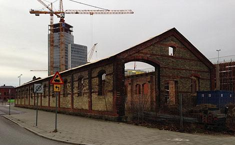 En nästan dagsfärsk bild. Observera bygget av Malmö Live i bakgrunden.