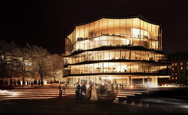 Juryns tredje alternativ kom från Wingårdh Arkitektkontor som bidrog med ett förslag som helt ritats om från det första förslaget.