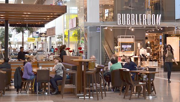 Vakansgraden i Skärholmen Centrum är nu nere på 5 procent. Bubbleroom är en av de nya hyresgästerna.