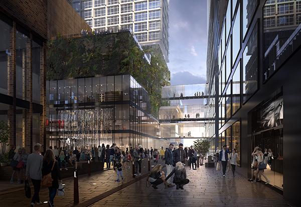 Förslag på koncept för RegionCity vid Centralstationen i Göteborg.