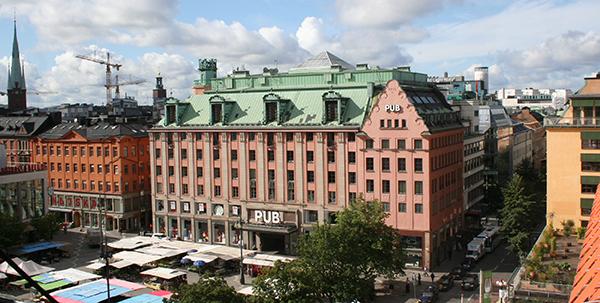PUB-huset vid Hötorget i centrala Stockholm.