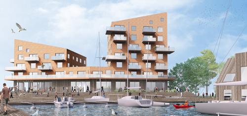 Skiss av projektet Slottsholmen av Sweco Arkitekter.