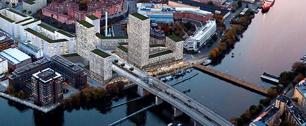 Jernhusen planerar att bygga högt vid Liljeholmens brofäste.