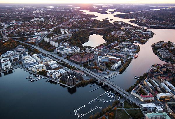 Flygbild över området som det ser ut idag. Bild: Jernhusen.