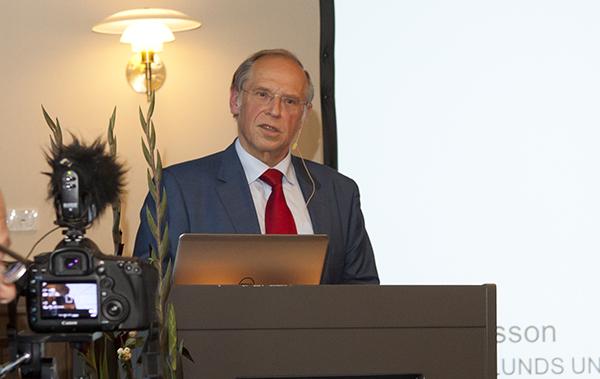Per Eriksson, rektor vid Lunds universitet, inledde kvällen. Foto: Camilla Gewing-Stålhane.