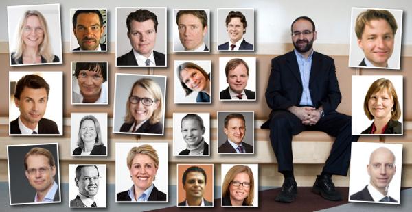 Ett 20-tal personer med idag framträdande roller inom den svenska fastighetsbranschen har pluggat tillsammans med den nye bostadsministern Mehmet Kaplan. Montage: Fastighetsvärlden.