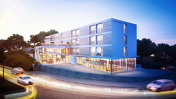 Projektfastigheten i Segeltorp, nära Kungens kurva. Här ska det bli lägenhetshotell.