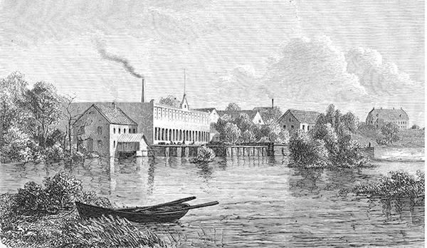 Slottsmöllan omkring 1870. Bild: Halmstads kommun.