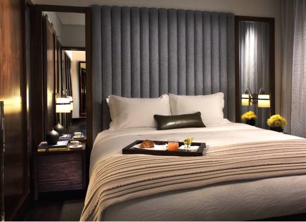 Exempel på hur ett rum kan komma att se ut. Rummen ska bli mellan 19 och 91 kvadratmeter stora. Badrummen ska vara generösa i storlek.