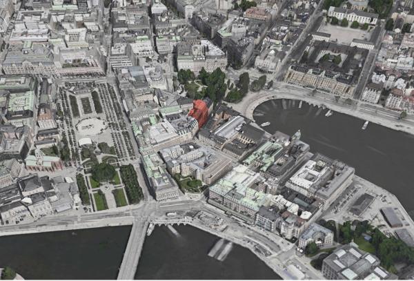 Bank Hotel ligger på Arsenalsgatan på Blasieholmen, mellan Nybroviken och Kungsträdgården. Granne är auktionsfirman Bukowskis.
