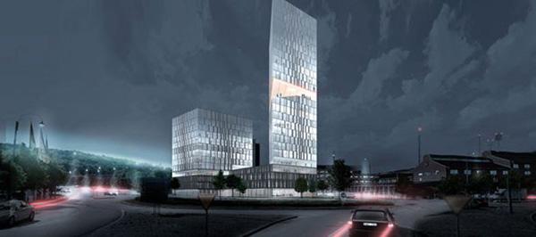 Skanskas höghusprojekt. Illustration: Henning Larsen Architects.