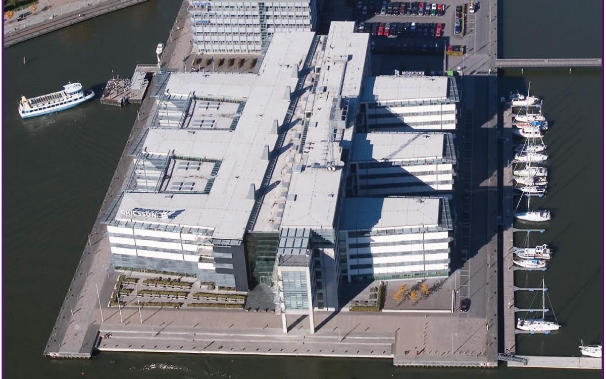 Den stora kontorsfastigheten på Lindholmen i Göteborg.