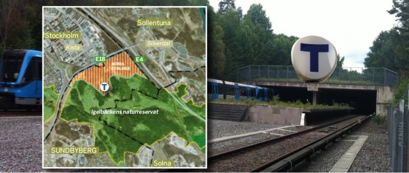 De planerade fastigheterna skulle bidra till att skapa en ljudvall från hårt trafikerade E4 och E18 mot skogsområdet.