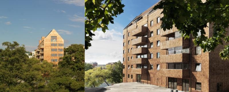 Vasakronan öppnar för ett inslag av trähus i Norra Kymlinge. Bolaget vill göra utveckla en stadsdel som drar de svenska hållbarhetskunskaperna till sin spets. Bilder: Folkhem
