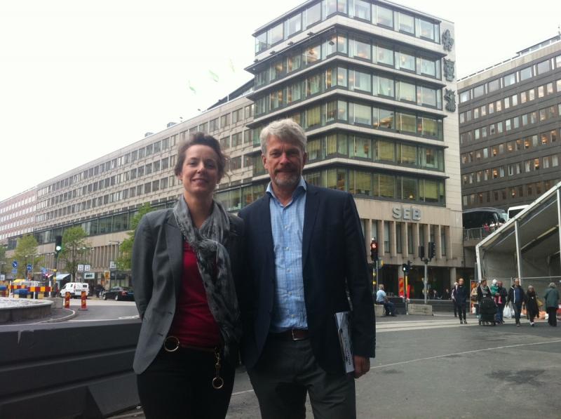 Projektledare. Eva Philipson och Per Thiberg vid Vasakronan driver projektet Sergels Hus. Fastighetsvärlden bedömer projektinvesteringen till cirka 2,5 miljarder kronor.