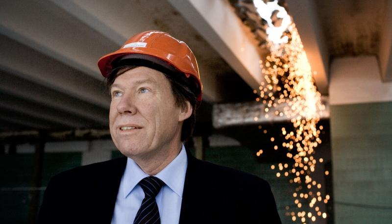 Lars Johansson, tidigare VD Unibail-Rodamco Norden. Foto från en stor intervju med Fastighetsvärlden 2007.