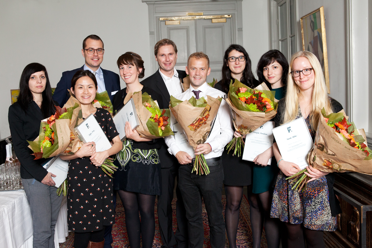 Nio studerande fick del av 2015 års pris för Årets Talang