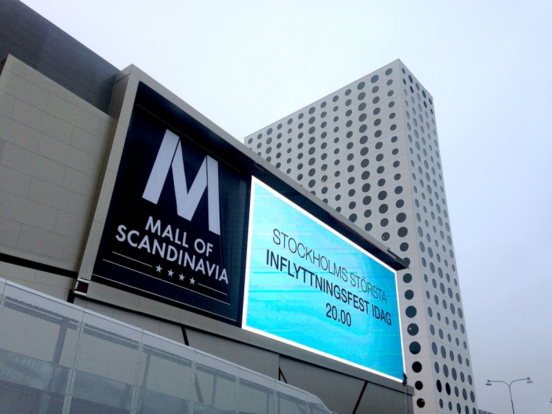 Mall of Scandinavia exteriör