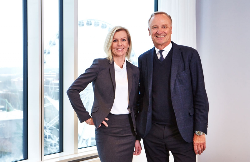 Carin Kindbom, vd och koncernchef Svenska Mässan, och Roger Holtback, styrelseordförande Svenska Mässan Stiftelse.