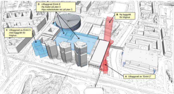 Tre höghus kan få sällskap av ytterligare två om det kommunala bolaget få sin vilja igenom.