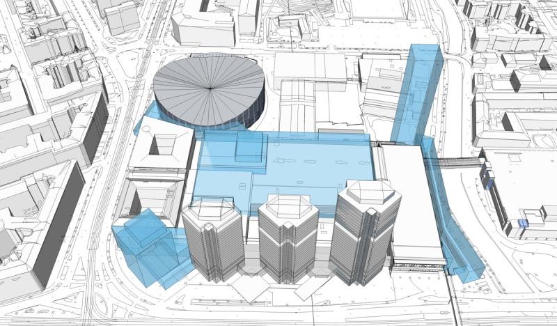 Idéillustration över hur området kan komma att se ut 2030.
