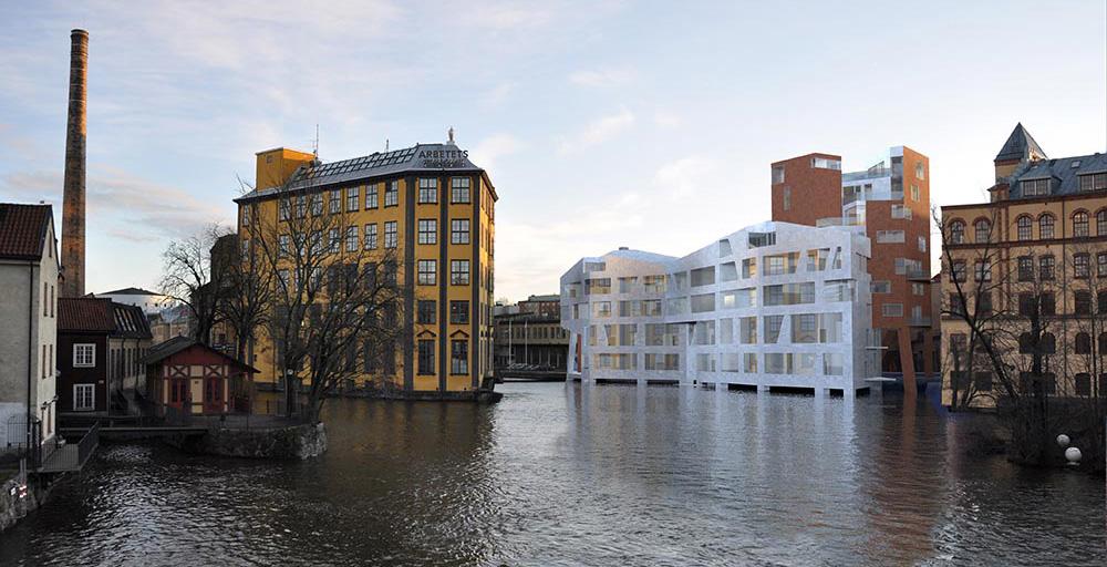 Katscha, ett bostadshus med stark identitet. Innehåller 30 bostäder.