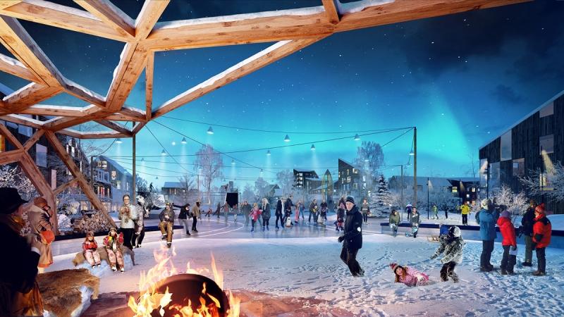 White arkitekter har under en längre tid varit engagerat i Kiruna och fått mycket beröm. Här en bild på Kirunas framtida stadspark. Fot: Tegmark.