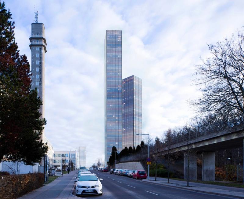 Vy från Telefongatan. Vasakronan är stor fastighetsägare i området och Stena Fastigheter uppför 300 bostäder i närheten. Aäven Alm Eqity har projekt i närområdet (Timotejen, det gamla Ericssonhuset).