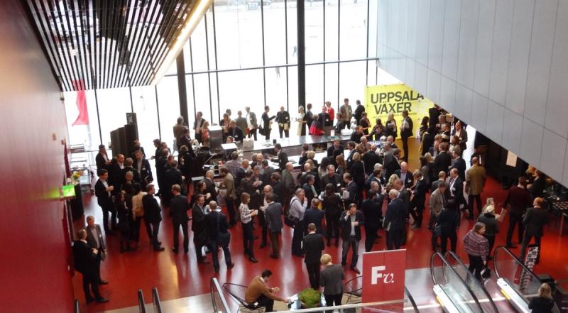 Delar av minglet på Uppsala Konsert och Kongress i samband med middagen.