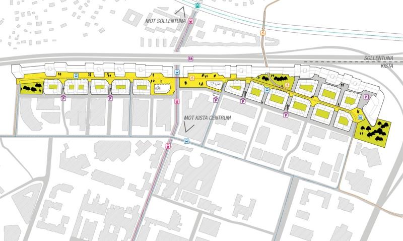 Ytor som till dag till stora delar är parkering bebyggs, och bilisterna får istället parkera i garage, enligt Lomars idé.